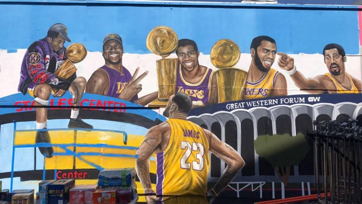 NBA: Nuevo mural 'antivandalismo' con LeBron y leyendas de Lakers - AS.com