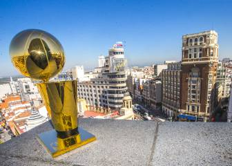 The NBA Larry O'Brien trophy takes a tour of Madrid
