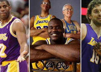 Magic, Kobe, West, Pau Gasol... el Top-15 histórico de los Lakers