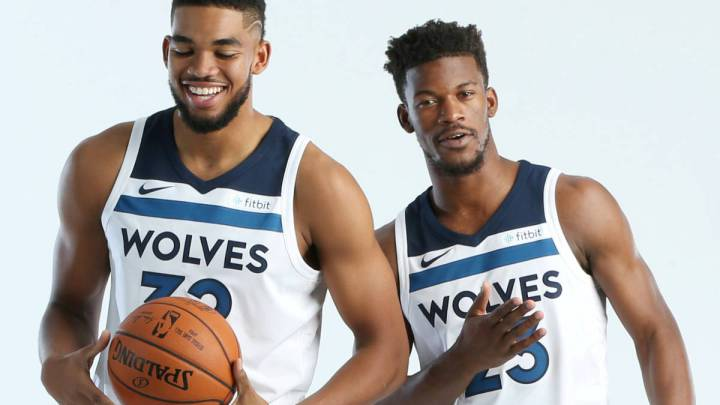 Karl-Anthony Towns y Jimmy Butler