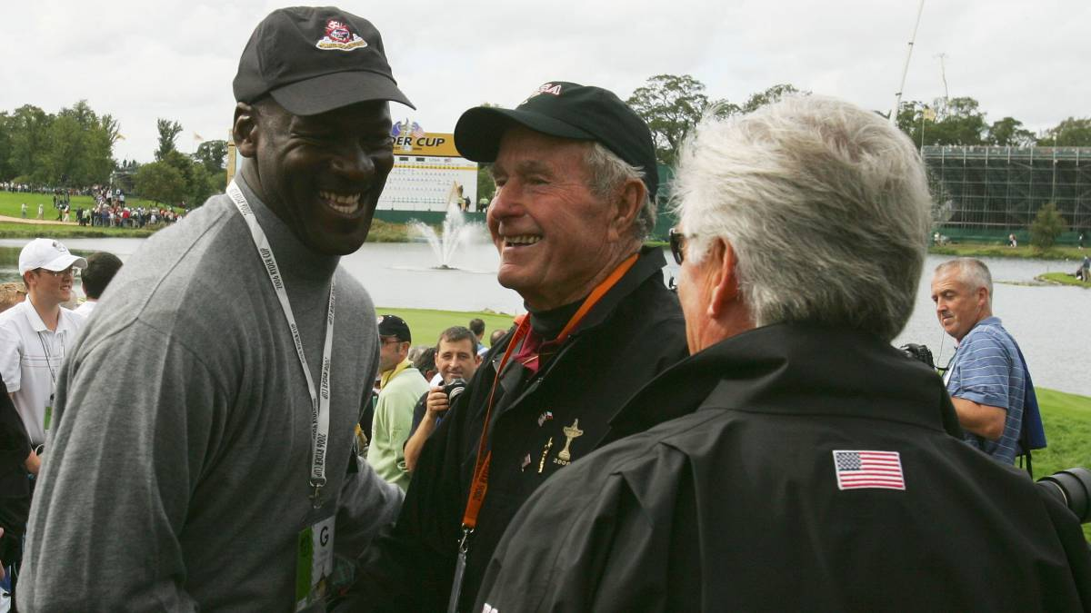 Michael Jordan y George H.W. Bush