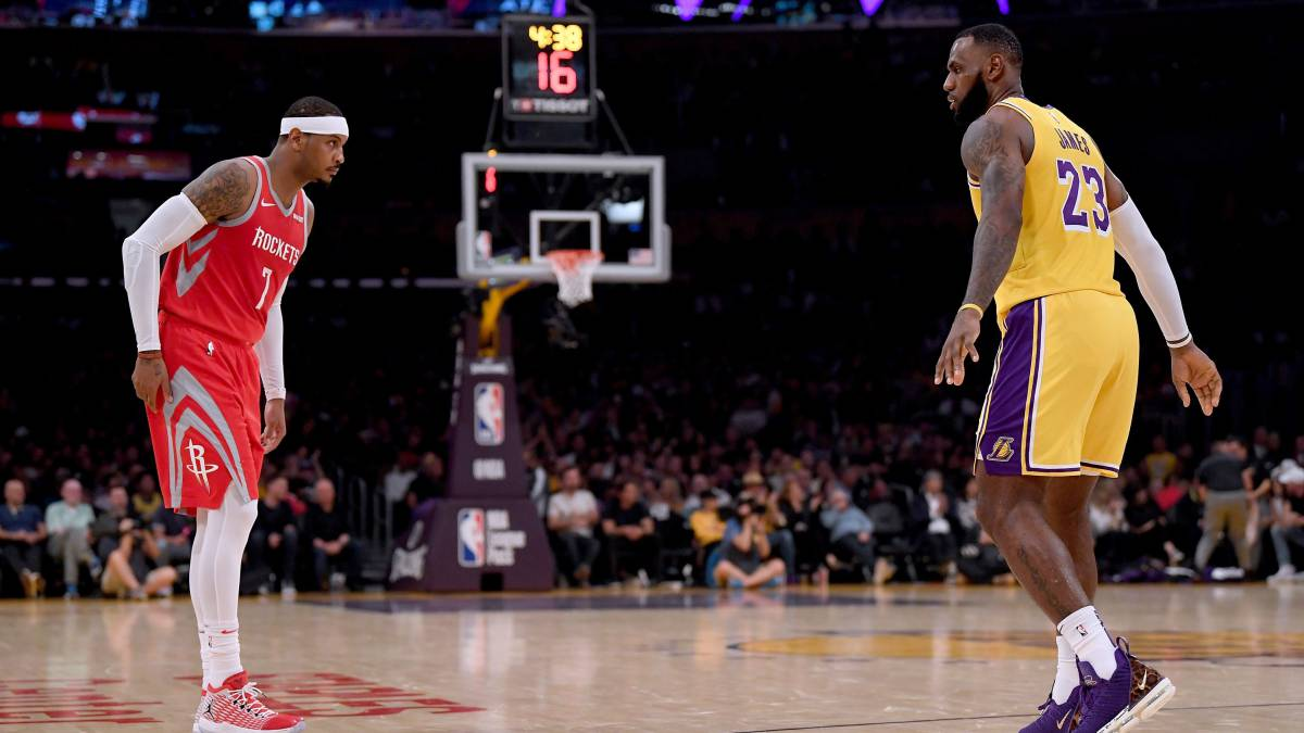 LeBron James quiere a Carmelo Anthony en los Lakers