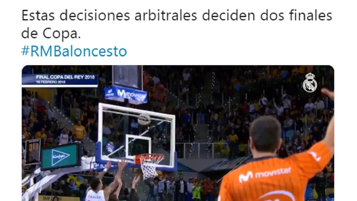 El Madrid se queja en Twitter por las dos últimas finales de Copa - AS.com