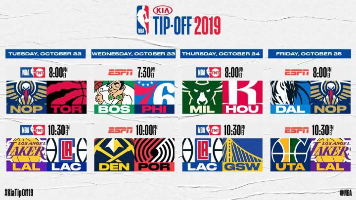 Las 10 fechas más destacadas de la próxima temporada NBA
