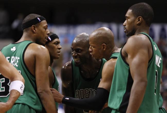 Rondo, con Garnett, Allen y Pierce