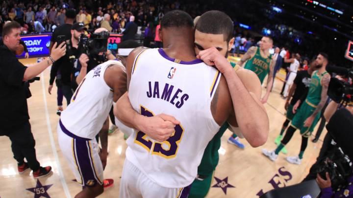 Los Lakers sobreviven a Tatum (41), los Celtics y la polémica