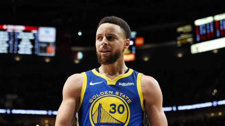 Stephen Curry, durante un partido de la NBA de los Golden State Warriors