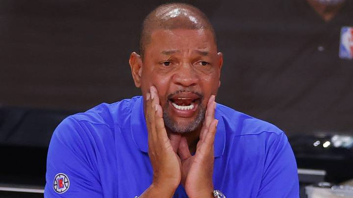 Doc Rivers, durante el quinto partido de la primera ronda de los playoffs que ha enfrentado a Los Angeles Clippers y a Dallas Mavericks