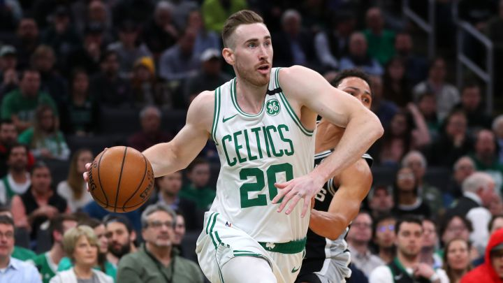 Gordon Hayward, durante su etapa en Boston Celtics.
