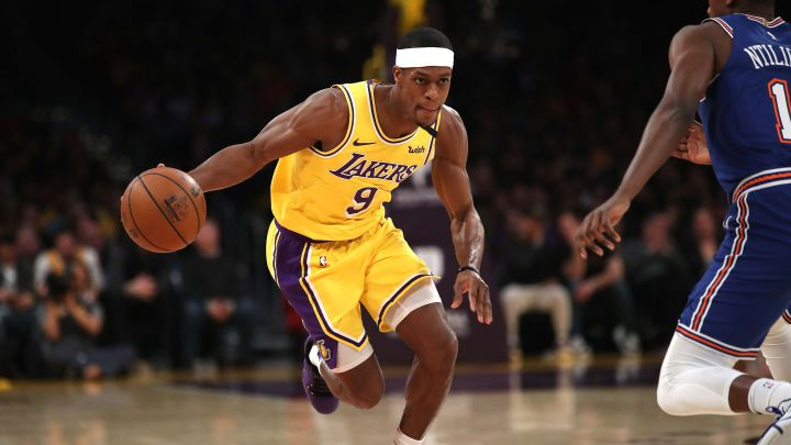 Rajon Rondo, durante su etapa con Los Angeles Lakers.