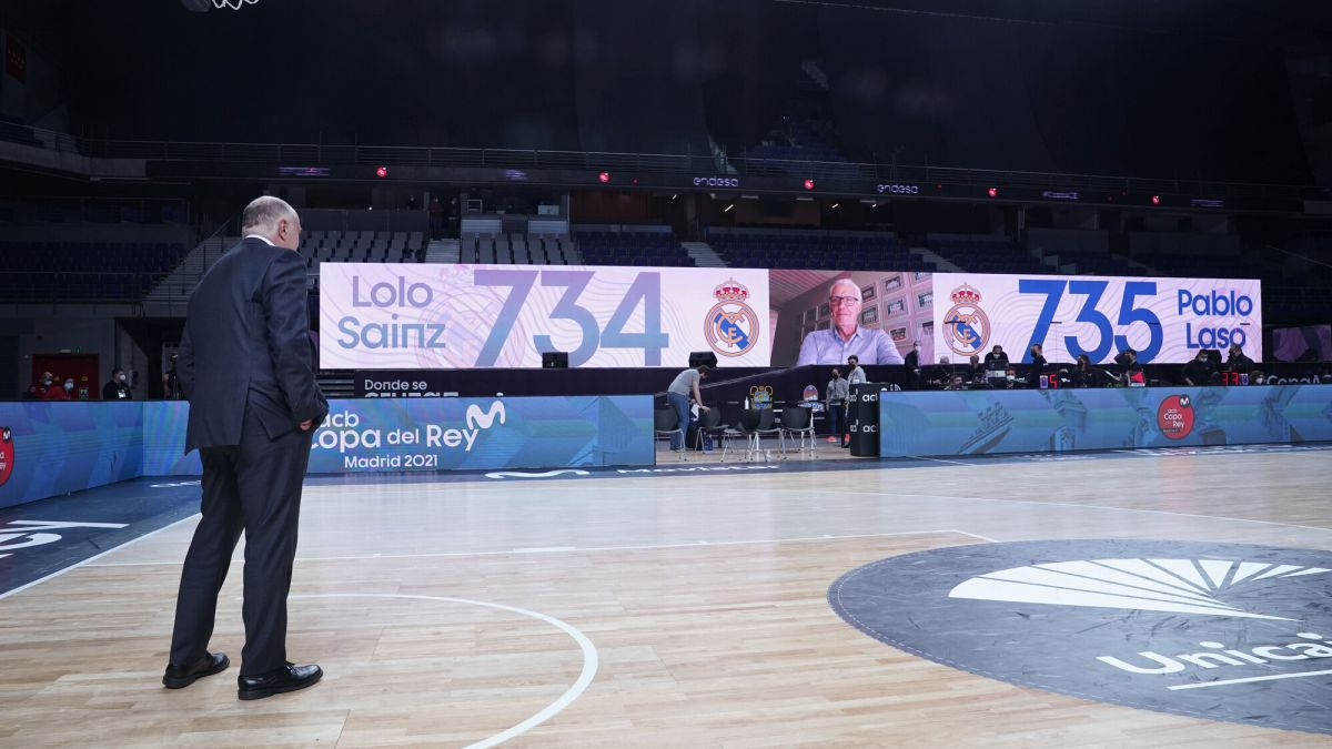 Laso beats Lolo Sainz: 735 games for Real Madrid