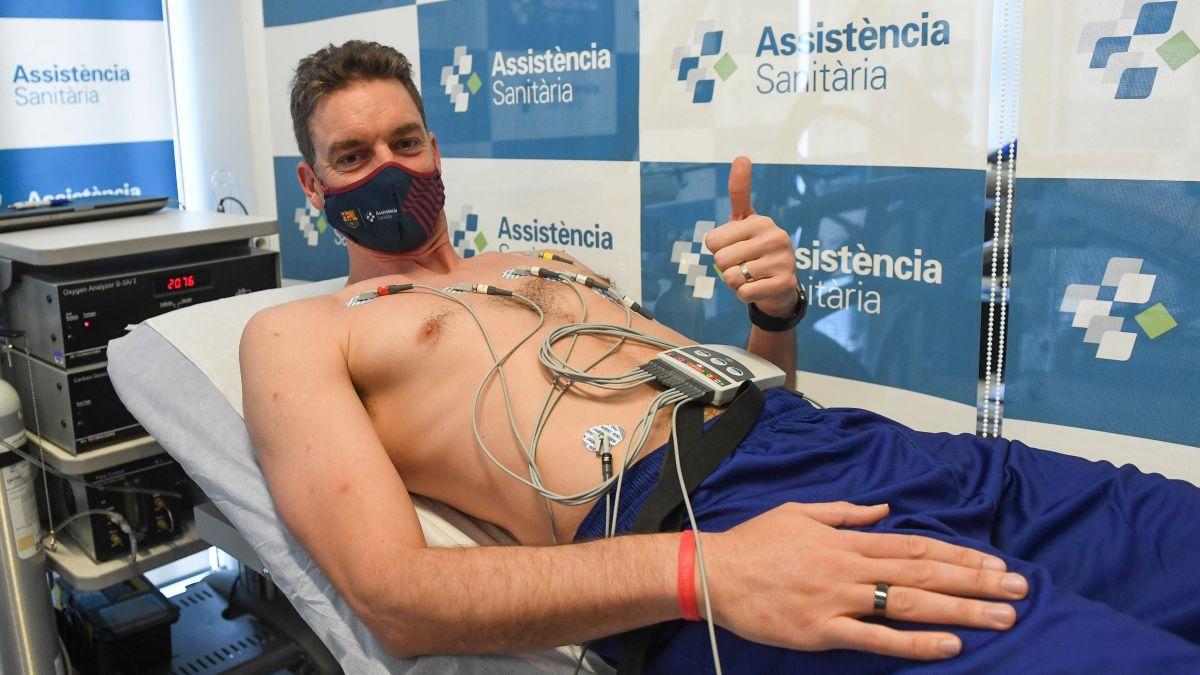 Gasol supera sin problemas la revisión médica del Barça