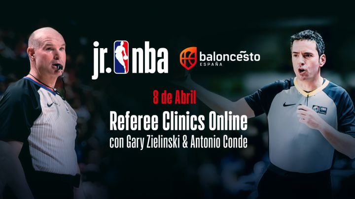 JR NBA y FEB unen fuerzas en un clínic virtual sobre arbitraje
