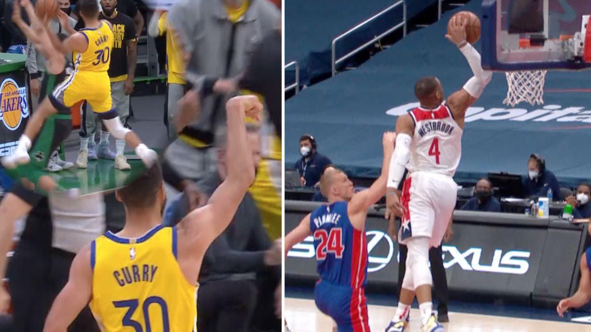 NBA de ciencia ficción: del gancho de jugón de Curry al mate animal de Westbrook