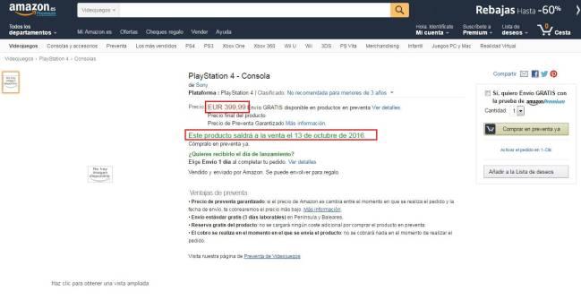 Sony Amazon Filtra El Precio Y Fecha De Lanzamiento De La Ps4 Neo