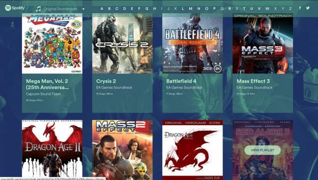 Spotify Gaming, nuevas listas de música y BSO sólo de videojuegos