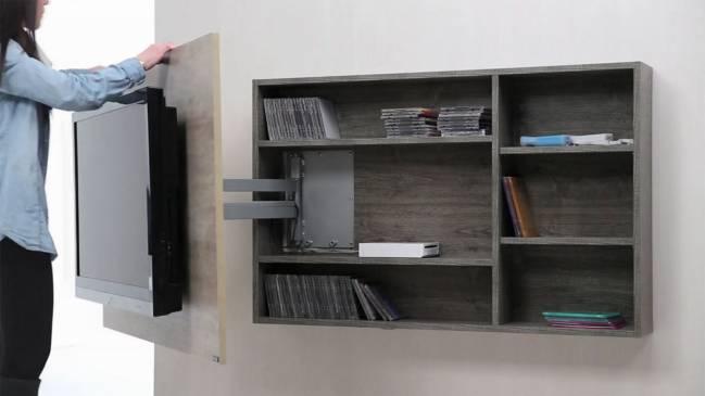 Consejos para colocar tu televisor for Muebles tv colgados