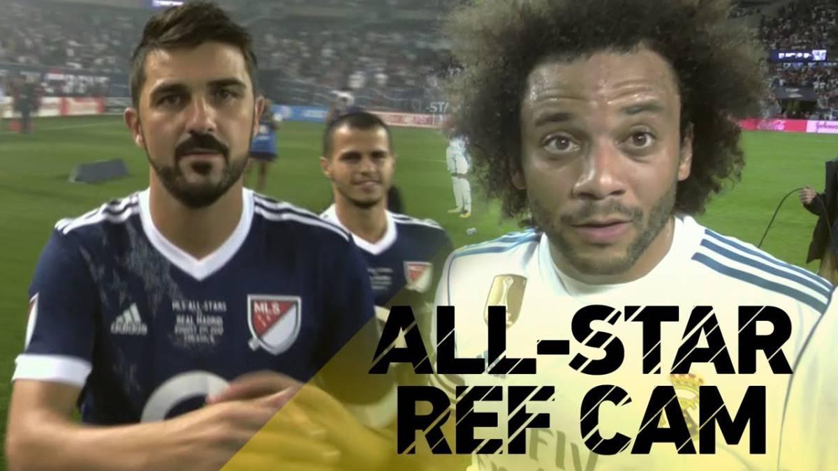 Así vio el árbitro el partido entre el Real Madrid y las estrellas de la MLS
