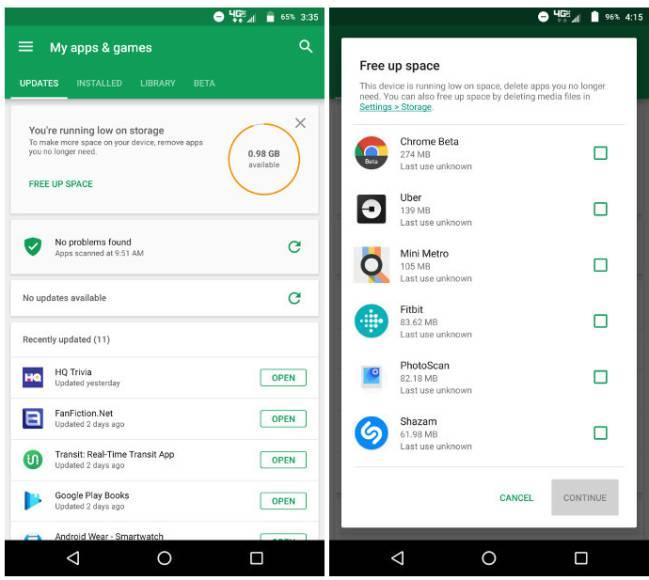 Sin Almacenamiento En Android Google Play Store Te Ayuda As Com