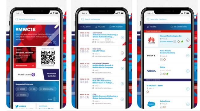 app MWC 2018 iOS