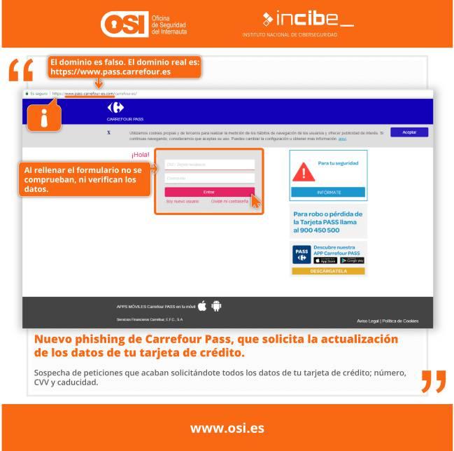 El timo de la tarjeta Carrefour Pass, nueva estafa online de