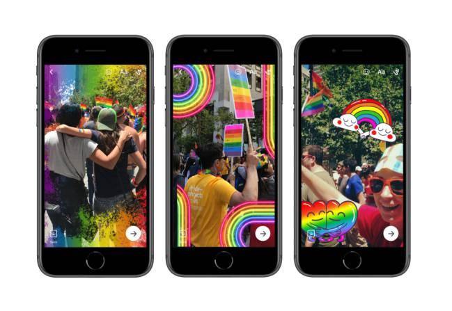Los filtros y stickers que tenemos en Facebook, Messenger e Instagram para el Día del Orgullo