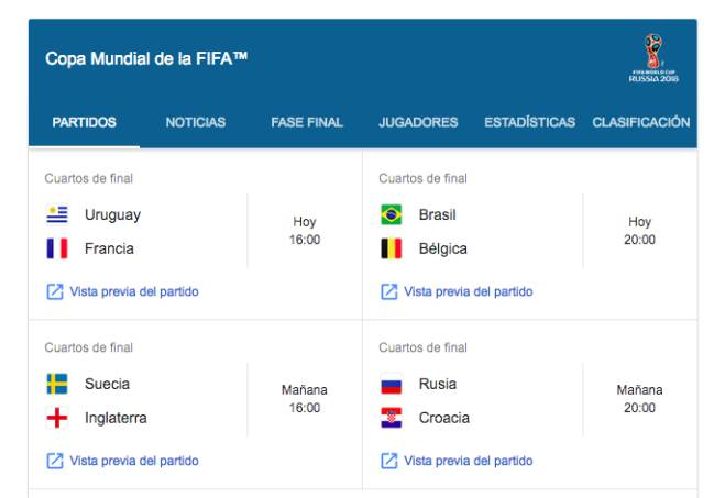 Cómo ver los Cuartos de Final del Mundial 2018 en el móvil - AS.com