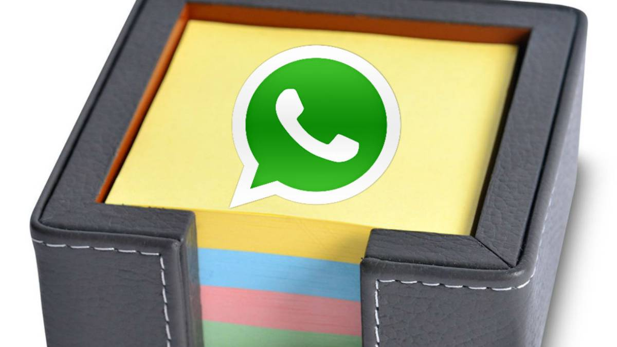 Cómo guardar un chat o mensaje en una nota post-it de WhatsApp