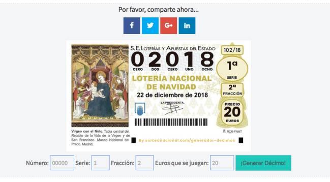 Cómo Crear Participaciones De La Lotería De Navidad 2018 Online As Com