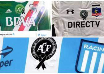 Club shirts around the world incorporate the Chapecoense club badge