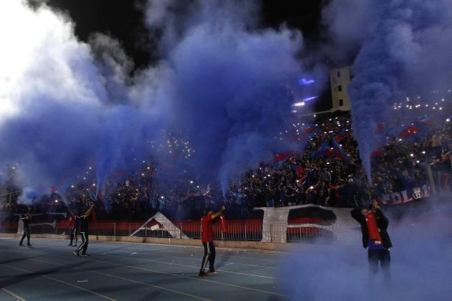 Hinchas de Universidad de Chile.