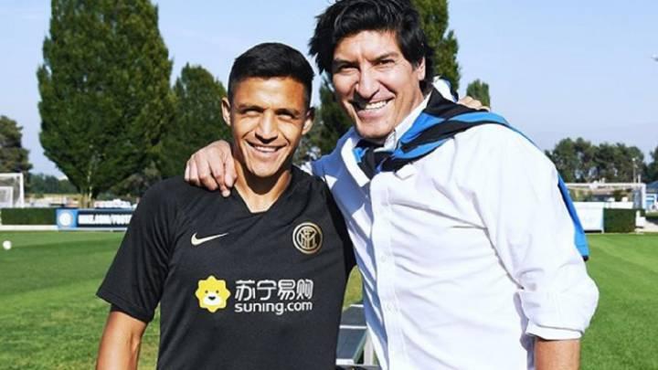El especial encuentro de Alexis Sánchez y Zamorano en el Inter - AS Chile