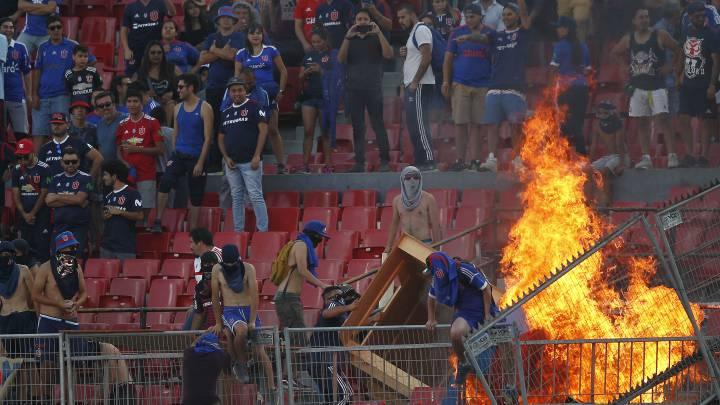 violencia provoca incendio en el nacional