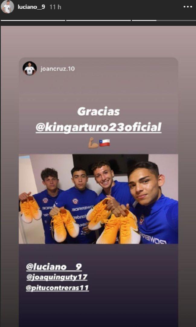 """Lo más grande"""": el regalo de Vidal a las figuras de la Sub 20 - AS Chile"""