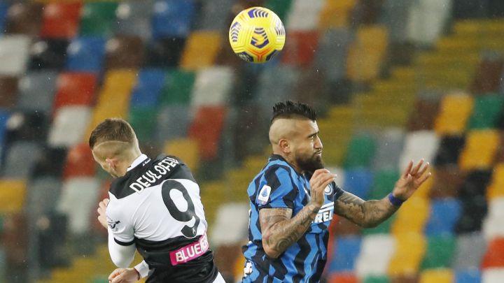 Con Vidal y Alexis: Inter perdió la opción de ser líder en Italia