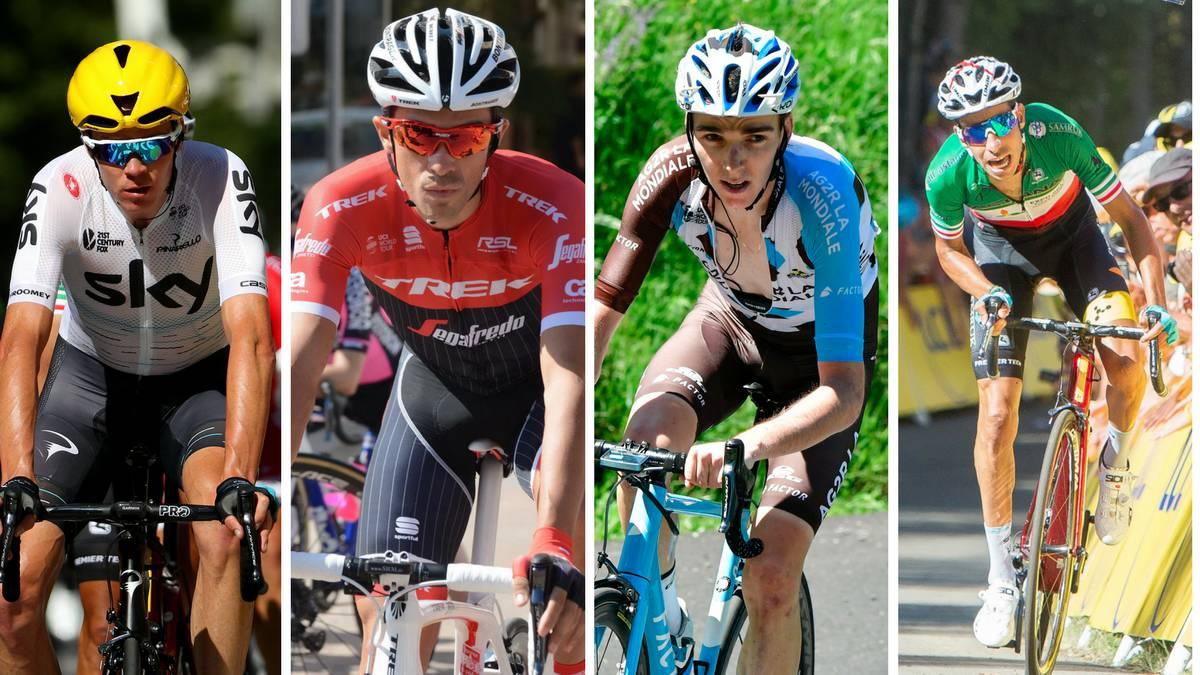 Froome, Contador, Bardet y Aru.