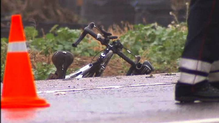 Bicicleta en accidente de tráfico.