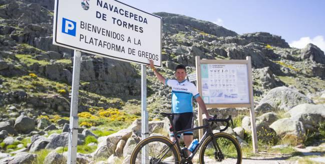 Carlos Sastre, en la Plataforma de Gredos.