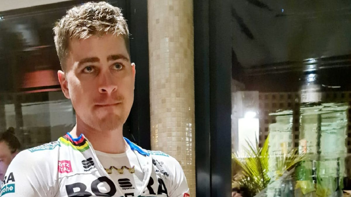 Peter Sagan suffers a Fall during training in the Canary Islands