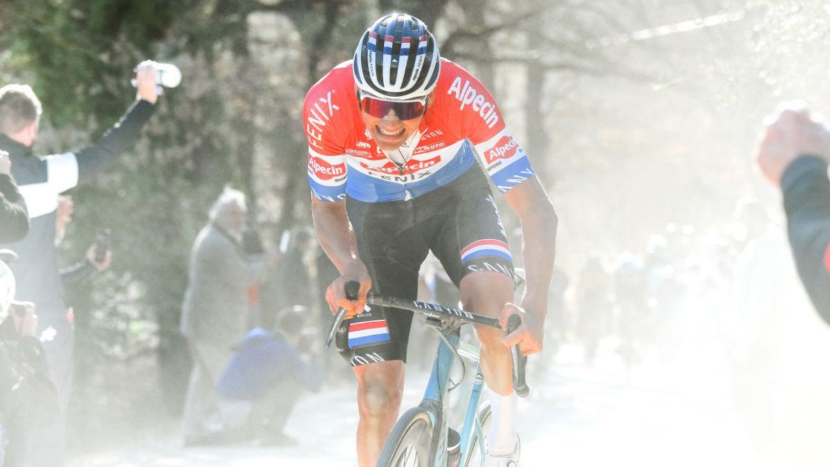 Los espectaculares datos de rendimiento de Mathieu Van der Poel en la Strade Bianche
