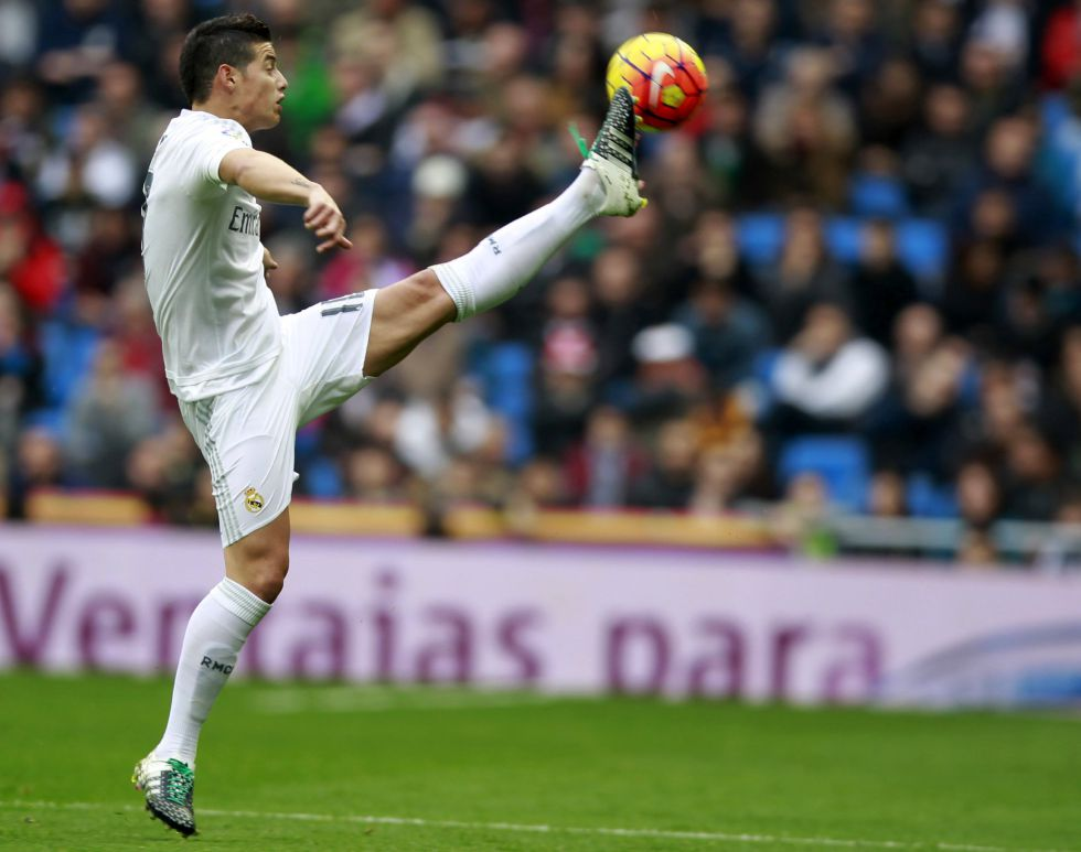 James pone tres asistencias en la goleada del Real Madrid