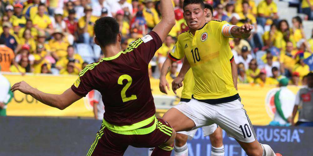 Resultado de imagen para colombia vs venezuela eliminatorias rusia