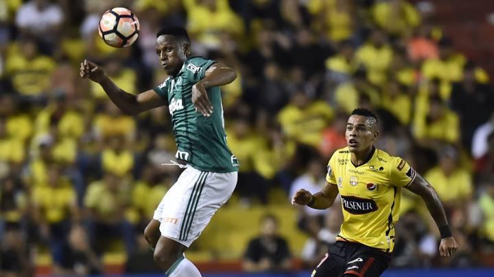 Palmeiras Con Mina Y Borja Cae En El Duelo De Ida Ante