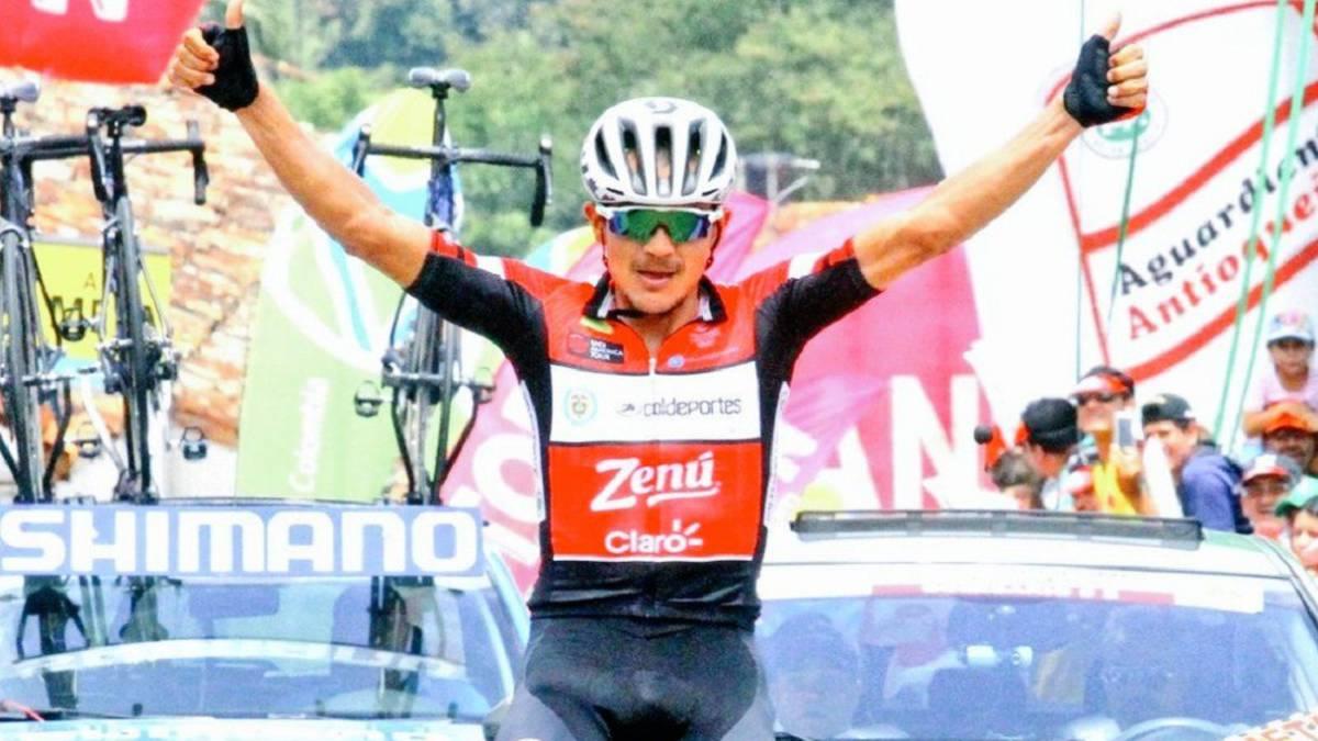 Alex Cano Ganador de la 8 Etapa Vuelta a Colombia
