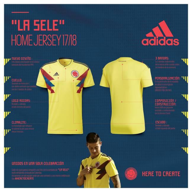 Camiseta de Colombia para Rusia 2018 efa5c23418cbf