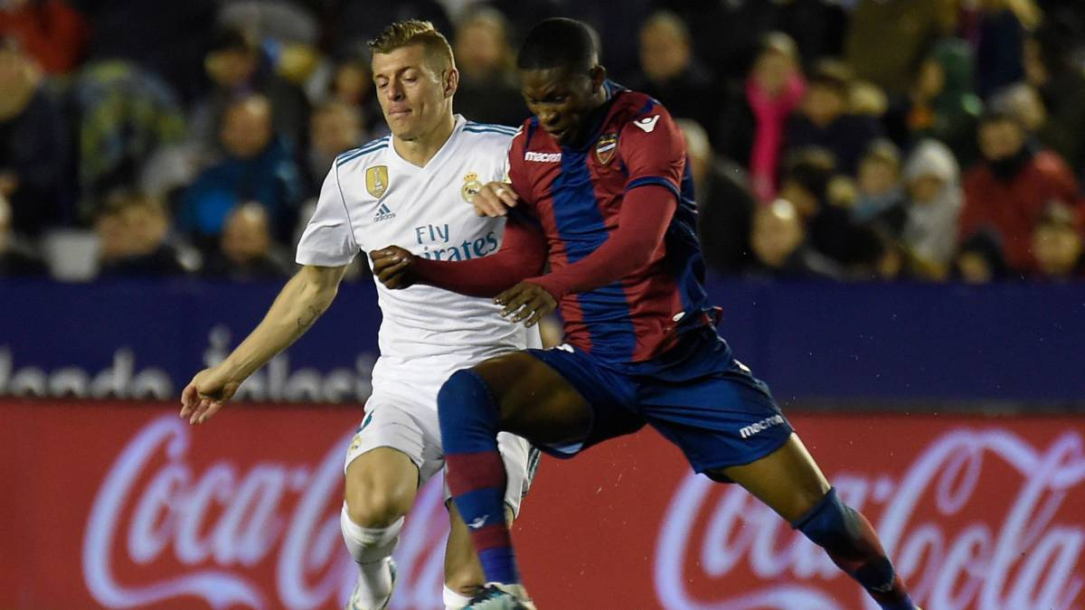 Jefferson Lerma jugó 68 minutos en el empate de Levante frente a Real Madrid