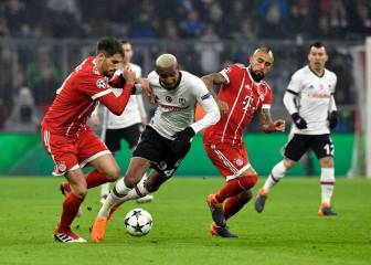 Bayern 0-5 Besiktas: James salió al minuto 43