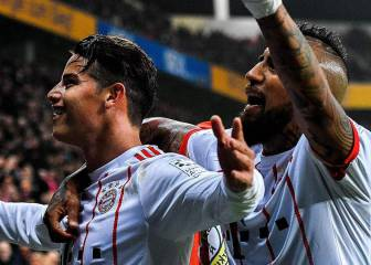 Cinco partidazos de James con Bayern que ilusionan a Colombia