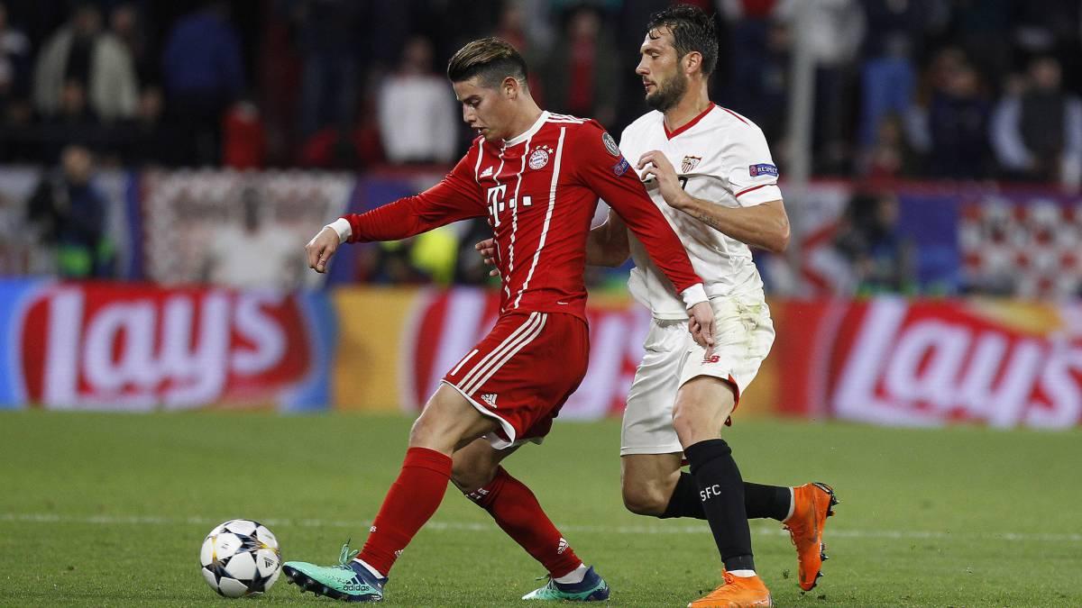 James Rodríguez espera clasificar a semifinales de Champions frente a Sevilla