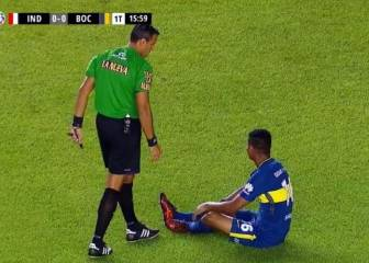 Wilmar Barrios se lesiona en el Independiente vs Boca
